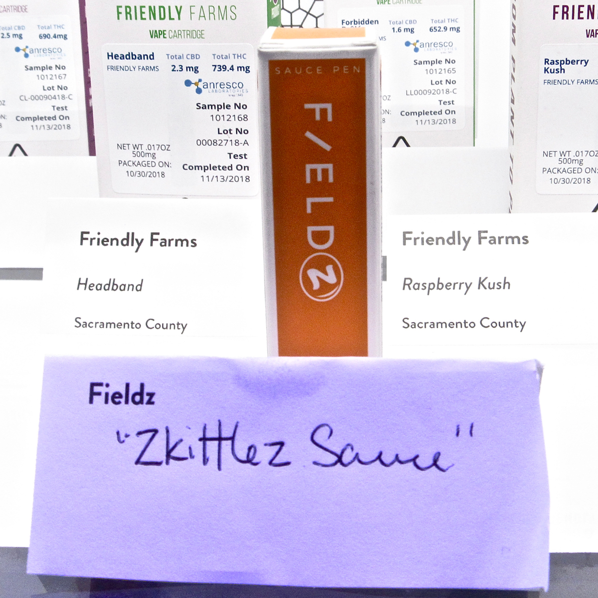 Fields extracts plus Zkittlez strain yields Fieldz. (David Downs/Leafly)
