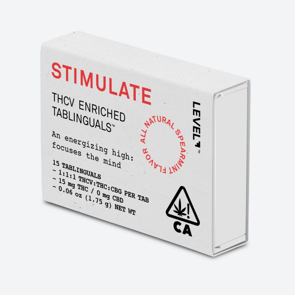 THCV product: Stimulate THCV Tablinguals by Level Blends