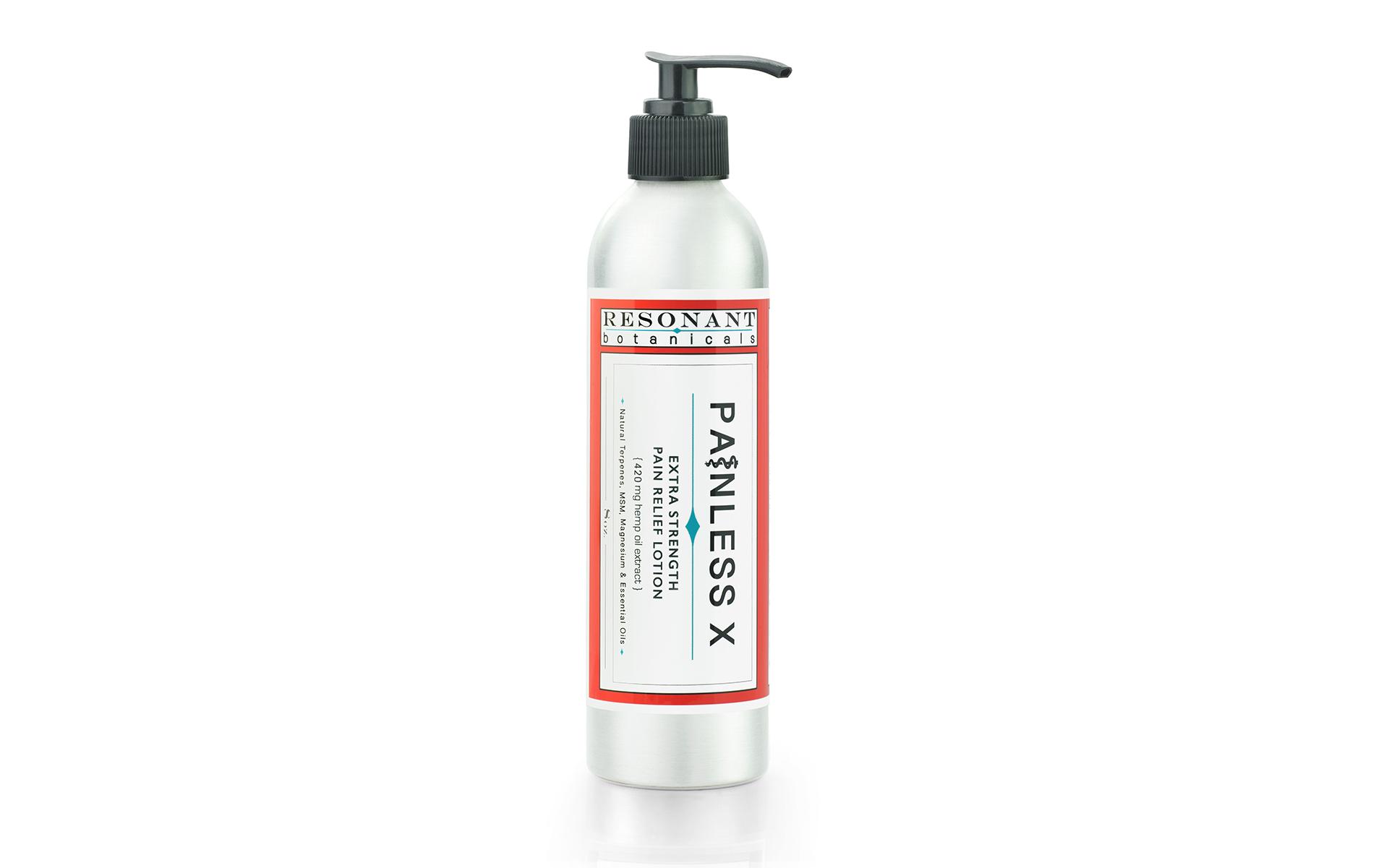 Resonant Botanicals Painless X lotion product shot