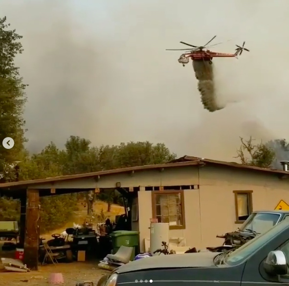 The SCU Lightning Complex Fire quickly overwhelmed firefighters already stretched thin (Courtesy ERB Farms)