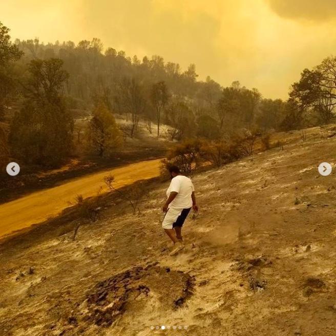 ERB farms staff return to fields of ash. (Courtesy ERB Farms)